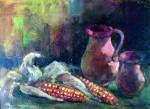Csendélet kukoricával 1963 45x33 vászon, olaj