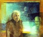 Apám, anyám  1984 39x33 farost, olaj