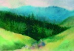 Pongrác tető 1996 41x29 cm  papír, akvarell