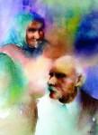 Nagyszüleim emlékére 1997  34x44 cm papír, akvarell