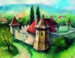 A Lázár-kastély Szárhegyen 2001 52x40 cm papír, akvarell